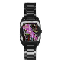 Pain Pain Go Away Stainless Steel Barrel Watch