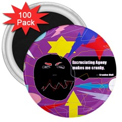 Excruciating Agony 3  Button Magnet (100 pack)