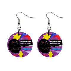 Excruciating Agony Mini Button Earrings