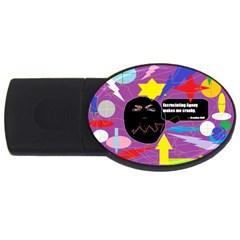 Excruciating Agony 2gb Usb Flash Drive (oval)