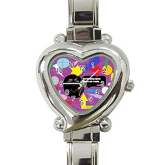Excruciating Agony Heart Italian Charm Watch