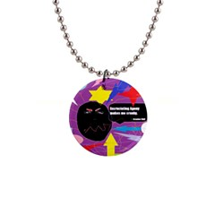 Excruciating Agony Button Necklace