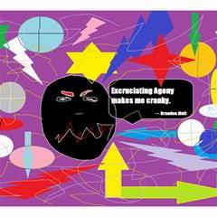 Excruciating Agony Canvas 12  x 12  (Unframed)