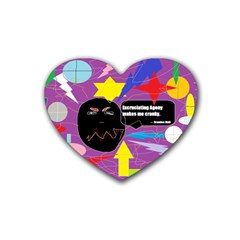 Excruciating Agony Drink Coasters 4 Pack (Heart)