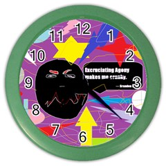 Excruciating Agony Wall Clock (Color)