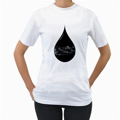 A drop in a sea of stars. Women s T-Shirt (White)