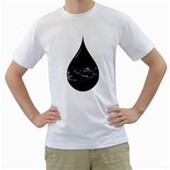 A drop in a sea of stars. Men s T-Shirt (White)