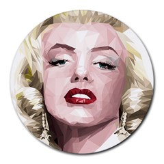 Marilyn 8  Mouse Pad (Round)