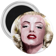 Marilyn 3  Button Magnet