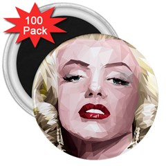 Marilyn 3  Button Magnet (100 pack)