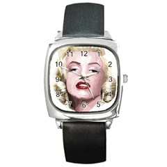 Marilyn Square Leather Watch