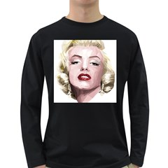 Marilyn Men s Long Sleeve T-shirt (Dark Colored)