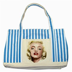 Marilyn Blue Striped Tote Bag