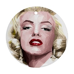 Marilyn Round Ornament (Two Sides)