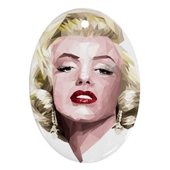 Marilyn Oval Ornament (Two Sides)