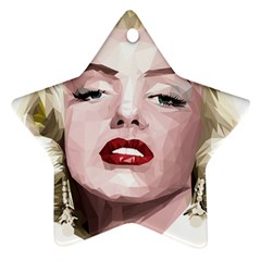 Marilyn Star Ornament (Two Sides)