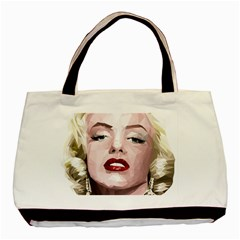Marilyn Twin-sided Black Tote Bag