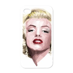 Marilyn Apple iPhone 4 Case (White)
