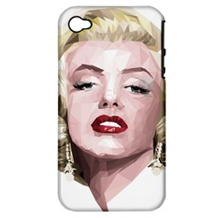 Marilyn Apple Iphone 4/4s Hardshell Case (pc+silicone)
