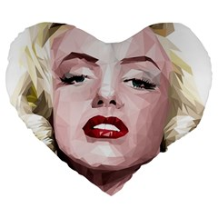 Marilyn 19  Premium Heart Shape Cushion