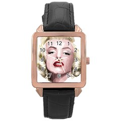 Marilyn Rose Gold Leather Watch
