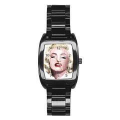 Marilyn Stainless Steel Barrel Watch