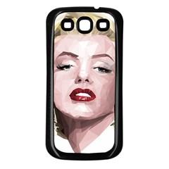 Marilyn Samsung Galaxy S3 Back Case (Black)