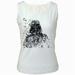 Darth Vader Women s Tank Top (White)
