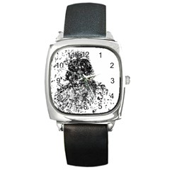Darth Vader Square Leather Watch