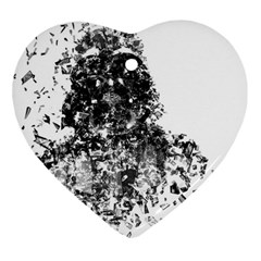 Darth Vader Heart Ornament (Two Sides)
