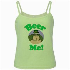 Beer Me Gorilla 3 Green Spaghetti Tank