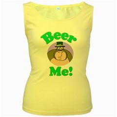 Beer Me Gorilla 3 Women s Tank Top (Yellow)