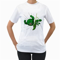Angry Pea Women s T Shirt (white)