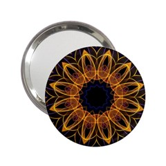Yellow Purple Lotus Mandala Handbag Mirror (2.25 )