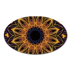 Yellow Purple Lotus Mandala Magnet (Oval)