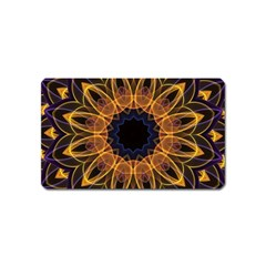 Yellow Purple Lotus Mandala Magnet (name Card)