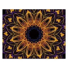 Yellow Purple Lotus Mandala Jigsaw Puzzle (Rectangle)