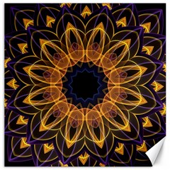 Yellow Purple Lotus Mandala Canvas 16  X 16  (unframed)