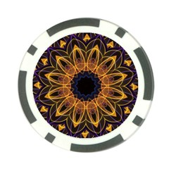 Yellow Purple Lotus Mandala Poker Chip