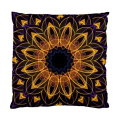 Yellow Purple Lotus Mandala Cushion Case (two Sided)