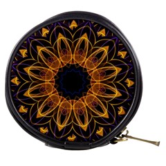 Yellow Purple Lotus Mandala Mini Makeup Case