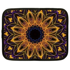 Yellow Purple Lotus Mandala Netbook Sleeve (XL)