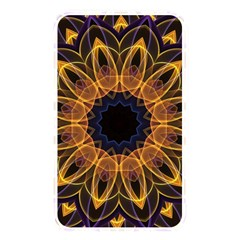 Yellow Purple Lotus Mandala Memory Card Reader (rectangular)
