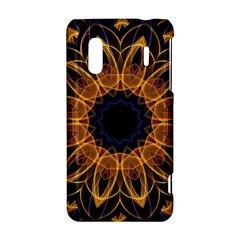 Yellow Purple Lotus Mandala HTC Evo Design 4G/ Hero S Hardshell Case