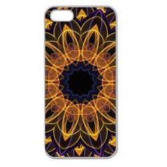 Yellow Purple Lotus Mandala Apple Seamless iPhone 5 Case (Clear)