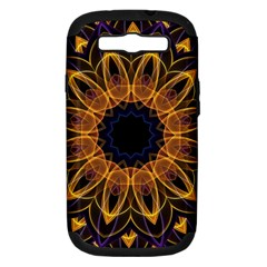 Yellow Purple Lotus Mandala Samsung Galaxy S Iii Hardshell Case (pc+silicone)