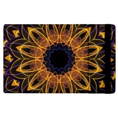 Yellow Purple Lotus Mandala Apple iPad 2 Flip Case