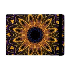 Yellow Purple Lotus Mandala Apple Ipad Mini Flip Case