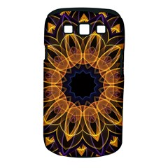 Yellow Purple Lotus Mandala Samsung Galaxy S Iii Classic Hardshell Case (pc+silicone)