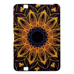 Yellow Purple Lotus Mandala Kindle Fire Hd 8 9  Hardshell Case